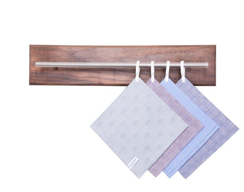 Walnut Pocket Square and Tie organizer - Dapper Woodworks