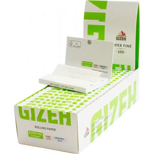 Gizeh Closed Box Of 20x100 Booklets Magnet Closer Rolling Papers Super Fine 12.0