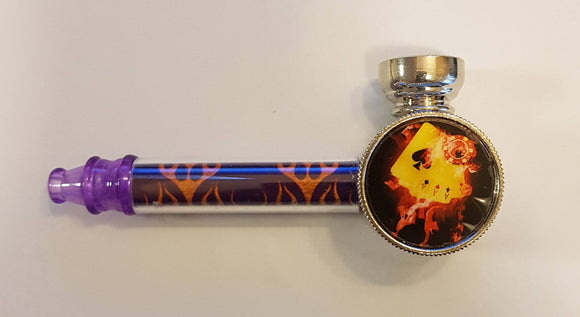 Pipe With Mini Grinder And Extra Silver Screens - Pipe
