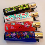 4 Clipper Lighters Back To Skull 2 Collection Unused Refillable - benz-market