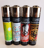 4 Clipper Lighters Movies theater 2 Collection Unused Refillable - benz-market
