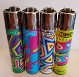 4 Clipper Lighters Pop Art 3 Collection Unused Refillable - benz-market