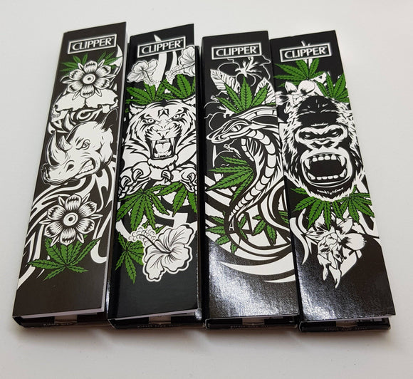 Brand New 4 Booklets Clipper Rolling Papers King size+tips 32 leaves each - benz-market