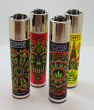 Brand New 4 Clipper Lighters  Psy Weed Collection Unused Refillable Lighters