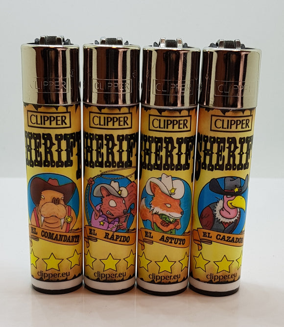 4 Clipper Lighters Wanted Animals 2 Collection Full Series refillable lighters