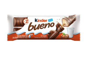 Brand New Kinder Bueno Milk Chocolate & Hazelnut Lot Of 30 Packs 43gr Each Pack Kosher