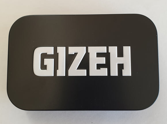 Brand New Gizeh Tin Stash Box With 3x50 Gizeh Rolling Papers And Filter Tips