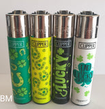 Brand New 4 Clipper Lighters  Lucky Collection Unused Refillable