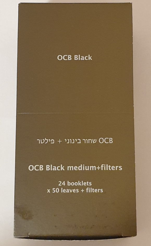 OCB Medium Premium 1 1/4 Rolling Papers + Filters Lot Of 24 Booklets