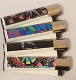 Brand New 4 Clipper Lighters Leaves 4 Collection Full Set Refillable Original