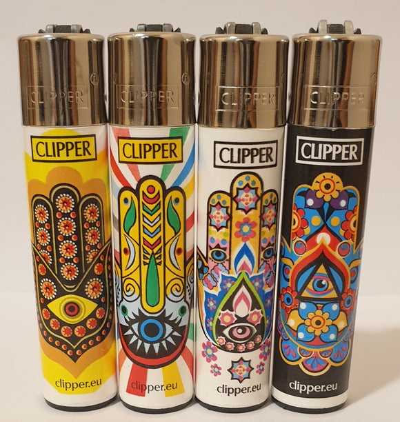 Brand New 4 Clipper Lighters Mandalas 4 Collection Full Set Refillable Original
