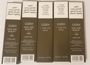 gizeh king size slim rolling papers+tips 5 booklets of 34 leaves magnetic