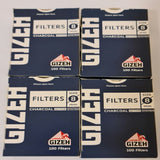 Gizeh Slim Filter Tips 8mm Lot Of 4x100 Charcoal Active System Soft Filters