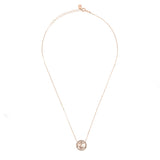 Bubble Fish Pendant Necklace Rosegold