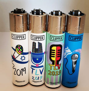 Brand New 4 Clipper Lighters Music Israel Collection Full Series Refillable