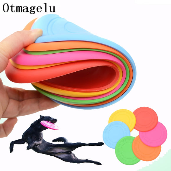 1pcs Funny Silicone Flying Saucer Dog Cat Toy Dog Game