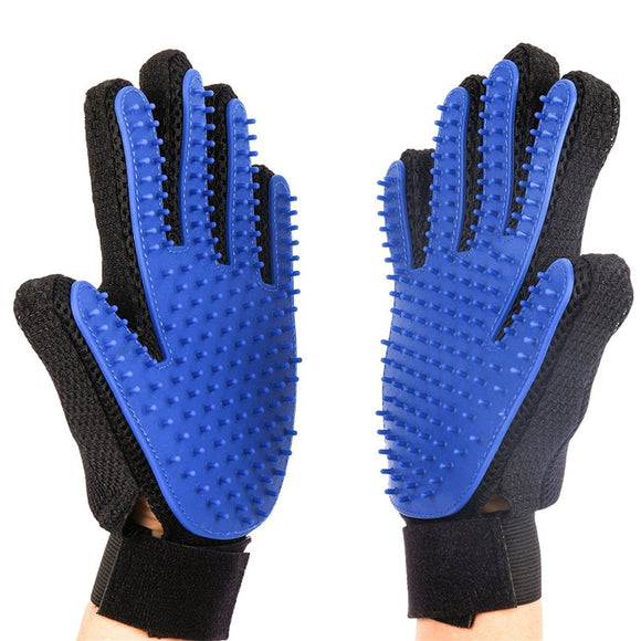 New Silicone Dog  Brush Glove Deshedding Gentle Efficient Pet Grooming 1 Glove