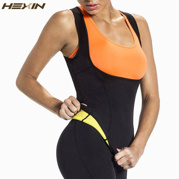 Plus Size Neoprene Sweat Sauna Hot Body Shapers Vest Waist Trainer Slimming Vest Shapewear Weight Loss Waist Shaper Corset - benz-market