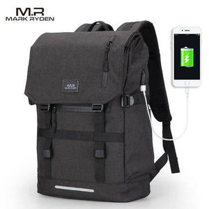 MR 15.6 Inch Laptop Bag Man USB Design Backpack - benz-market