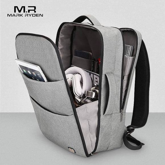 MR Huge Capacity Waterproof USB Design Laptop Backpack 17 inches - benz-market