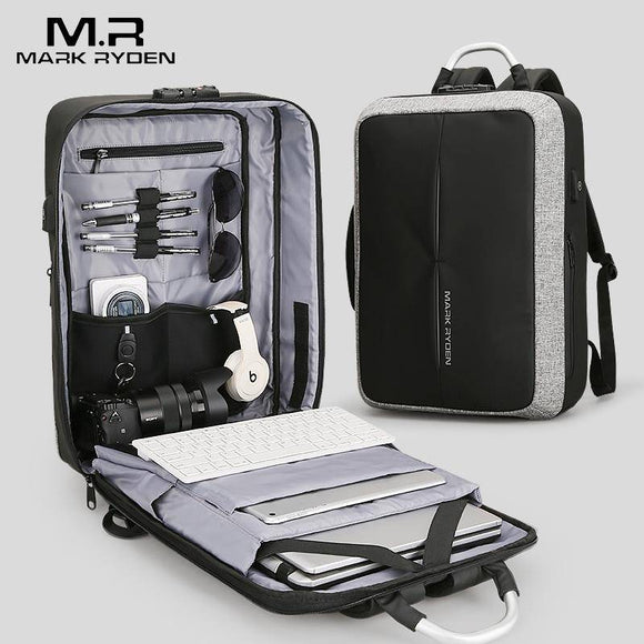 MR Anti-thief USB Recharging Men Backpack - benz-market