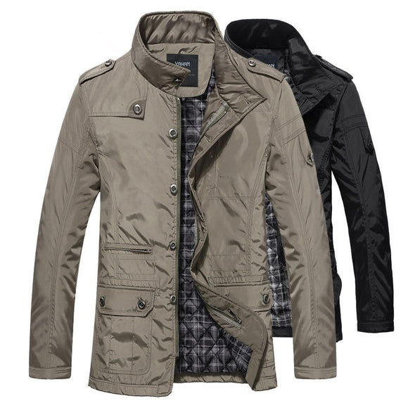 Men Jacket Leisure Windproof Thick Warm Jacket - benz-market