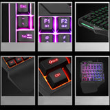 Professional Wired 35 Keys Keyboard Gaming Keypad with LED Backlight 35 Keys One-handed Membrane Keyboard