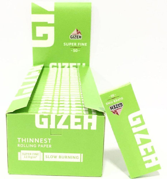 Brand New Gizeh Closed Box of 50 Booklets Super Fine Rolling Papers 12.0 g/m - benz-market