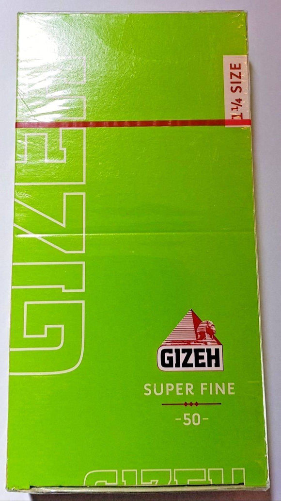 Gizeh Super Fine 1 1.4 Medium Size Rolling Papers 25 Booklets - Rolling Papers
