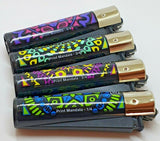 Brand New 4 Clipper Lighters Print Mandala Collection Full Series Refillable