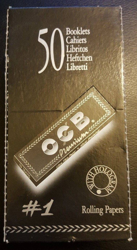 Ocb Rolling Paper Premium #1 50 Booklets 70Mm - Rolling Papers