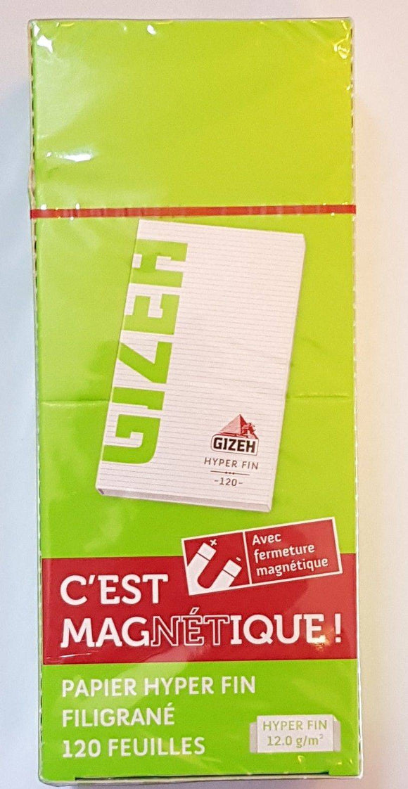 Gizeh 20 Booklets Magnet Closer Rolling Papers Super Fine 12.0