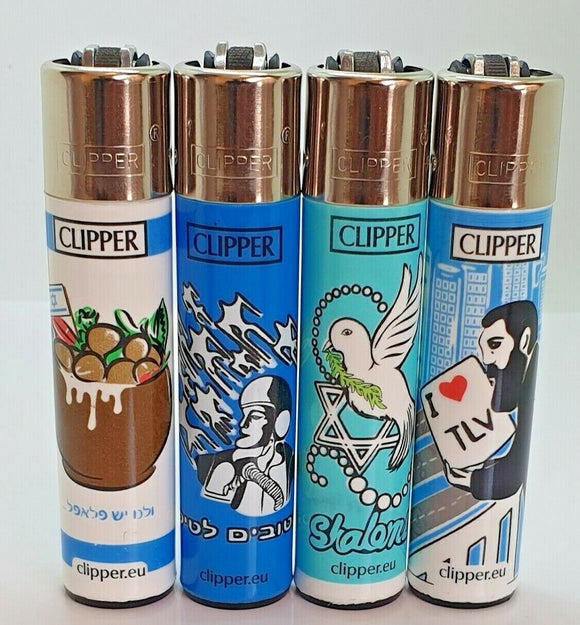 Brand New 4 Clipper Lighters I Love Collection Full Series Refillable