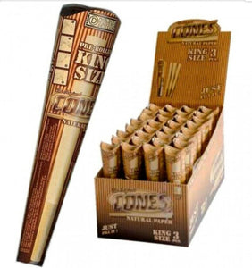 Brand new Full Box 32x3 Smoking Pre Rolled Natural Cones King Size+Tips 109mm