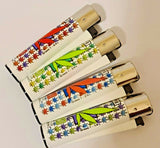 Brand New 4 Clipper Lighters Grass 1 Collection Full Set Refillable