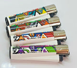 Brand New 4 Clipper Lighters X Pattern Collection Full Series Refillable