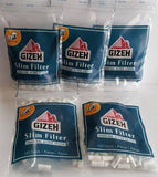 Gizeh Slim Filters 6Mm Lot Of 5X120 Bags Charcoal Active System - Filter Tips