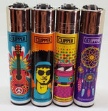 4 Clipper Lighters Hippie Passion Collection - Clipper Lighters