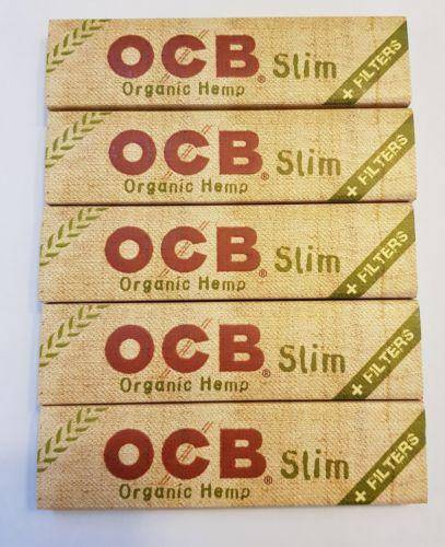Ocb Rolling Papers Organic Hemp Lot Of 5 Booklets King Size+Tips - Rolling Papers