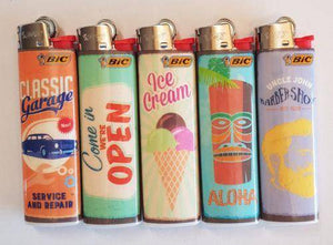 Bic Lighters Lot Of 5 Collection Original - Bic