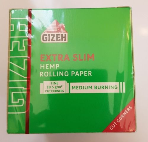 Brand New Gizeh Extra Slim Hemp Rolling Papers 50x66 Booklets Fine 18.5 g/m - benz-market