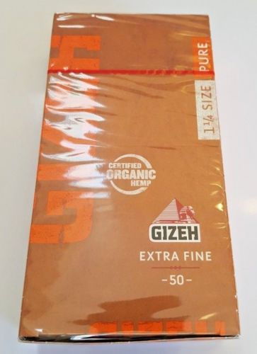 New Lot Of 25 Booklets Gizeh Extra Fine 1 1.4 Medium Rolling Papers Organic Hemp - benz-market