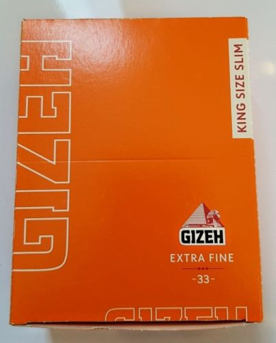 Brand New Gizeh Slim King Size Rolling Papers 50x33 Booklets 14.0 g/m Extra Fine - benz-market
