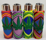 4 Clipper Lighters With Hand Sewn Cover - Clipper
