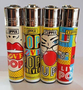 4 Clipper Lighters Pop Collection - Clipper Lighters
