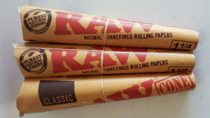 Lot Of 3 Packs Raw Cones 6Pack Natural Unrefuned Papers 1.1/4 - Pre Rolled Cones