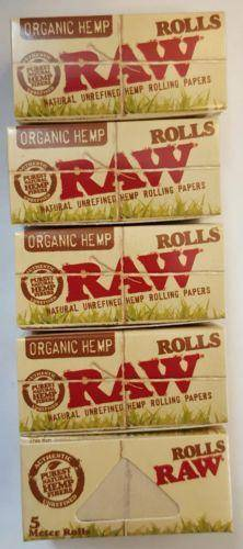 Raw Organic Hemp Rolls 5Pcs Of 5Meter Each Rolling Papers - Rolling Papers