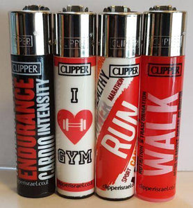 4 Clipper Lighters Gym Collection - Clipper Lighters
