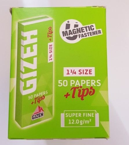 Brand New Gizeh Slim Rolling Papers 26x50 Booklets+Tips Medium 1 1/4 Super Fine - benz-market