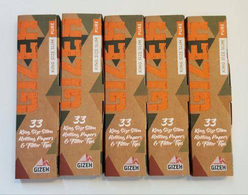Gizeh Pure Hemp 5 Booklets Rolling Paper King Size+Filters 33 Leavs - Rolling Papers